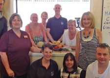 The team from Lincoln Sainsbury's delivering a donation of food to the homelessness charity Nomad Trust.