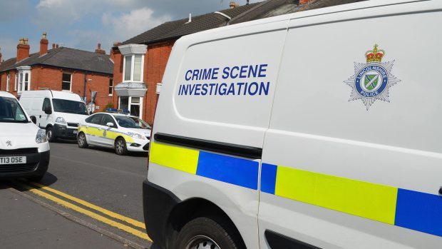 Forensic teams are still on the scene in Sincil Bank. Photo: The Lincolnite