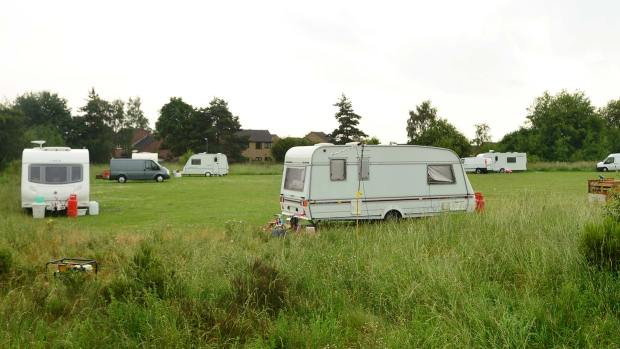 The caravan camp in Birchwood. Photo: Steve Smailes for The Lincolnite