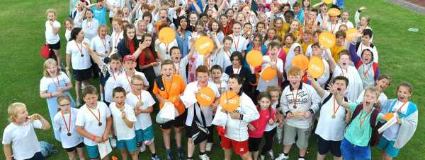 Around 300 Lincoln pupils took part in the 2014 Active Nation Tryathalon in Lincoln.