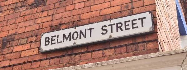 Belmont Street in Lincoln, off Monks Road. Photo: Steve Smailes/The Lincolnite