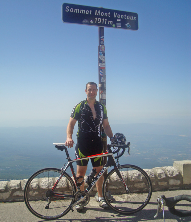 Duncan will cycle up Club des Cingles du Mont Ventoux' in the south east of France three times.