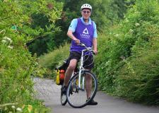 Mayor of Lincoln Councillor Brent Charlesworth took to the Water Rail Way ahead of the fundraising event in July 2014. Photo: Steve Smailes for The Lincolnite