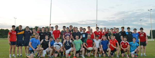 The current senior group at Lincoln Rugby Club