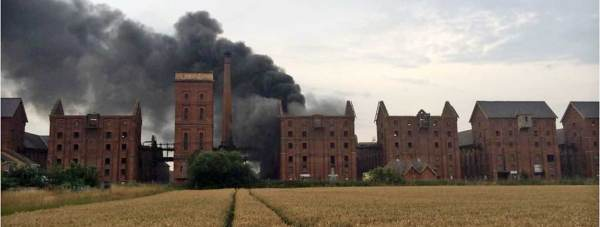 Maltings on fire. Photo: Mark Suffield