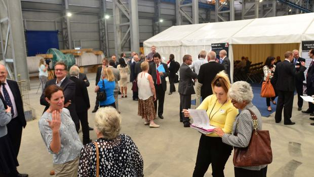 The launch event inside the press centre of Bifrangi in Stamp End in Lincoln. Photo: Steve Smailes/The Lincolnite