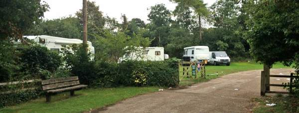 Around 15 caravans arrived at the park on Tuesday, August 19. Photo: The Lincolnite