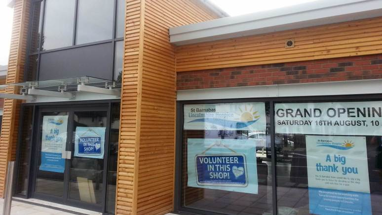The new St Barnabas shop, next to Tesco.