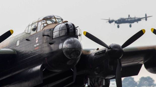 Thumper and Vera, the last two airworthy Lancasters. Photo: Sean Strange