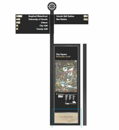 A draft of the update signage. Photo: Lincoln BIG