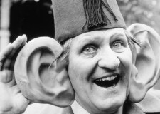 "Tommy Cooper and his "" new ears"". Photo: Mike Maloney."