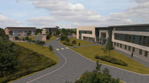 Proposed plans for the new Lincoln Riseholme College campus in Lincoln. Photo CAD Associates