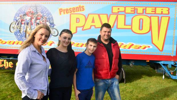 The Pavlov family behind the show Tanya, Emilia, Peter and Pavel. Photo: Steve Smailes for The Lincolnite