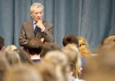 Sir Ian McKellen at William Farr School in Welton