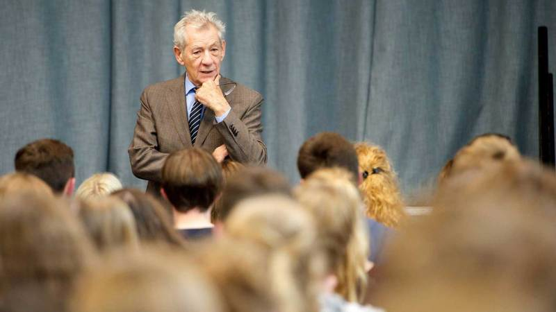 Sir Ian McKellen at William Farr School in Welton