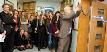 Sir Ian opened new classrooms during his visit.