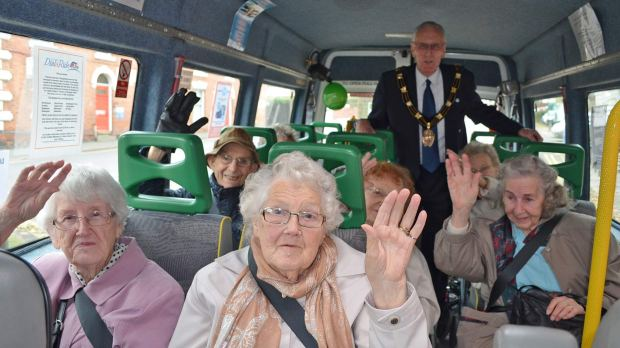 Users of the Dial-a-Ride charity scheme took part in their own World Hello Day celebrations.