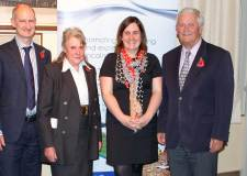 L-R: Professor David Sleight (Chair of the Board of Trustees and Dean of Public Engagement for the University of Lincoln); Baroness Willoughby de Eresby; Liz Bates (Chief Executive Officer) and Her Majesty's Lord Lieutenant, Tony Worth.