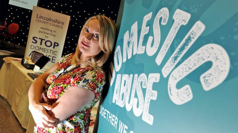 """""""Stop domestic abuse"""" was the message of organisations who attended the conference in Lincoln .Photo: Stuart Wilde"""
