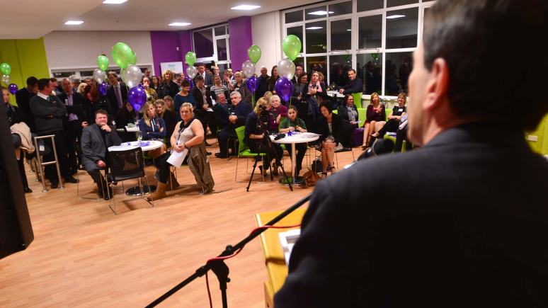 Members of the local community, school staff, students and organisations were welcomed to celebrate the launch of the new kitchen service. The team were also thanked for all their hard work. Photo: Steve Smailes for The Lincolnite