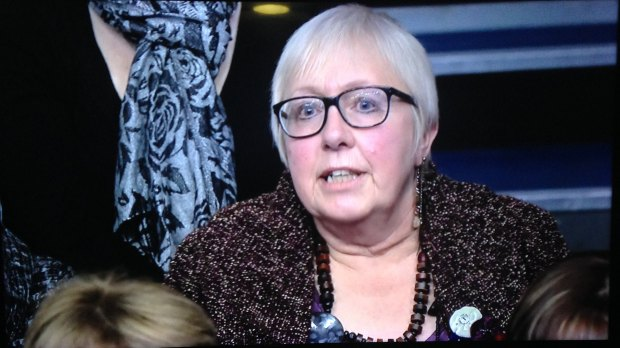 Elaine Smith appeared on Question Time on January 15.