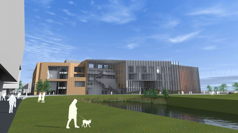 The School of Engineering is currently being expanded with the construction of the Isaac Newton Building. Image: UoL