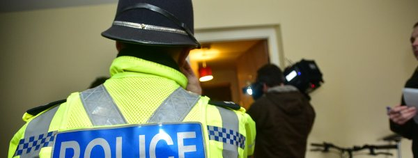 Police at a drugs raid in the Sincil Bank area of Lincoln. Photo: Steve Smailes for The Lincolnite