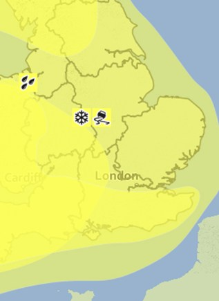 A Met Office yellow warning for wind is in place across Lincolnshire.