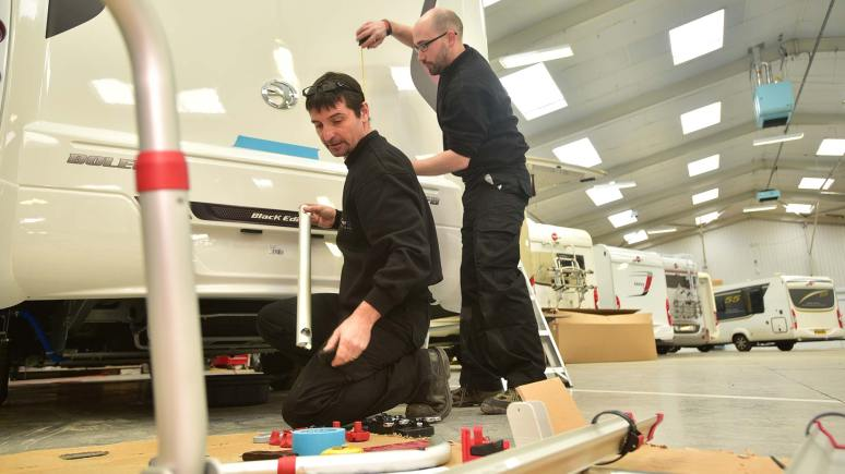 Camper UK staff working in the service area. Photo: Steve Smailes for The Lincolnite