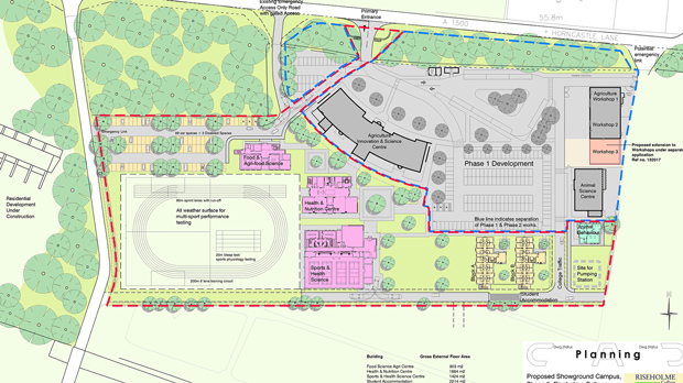 Proposed masterplan & site layout plan phase two