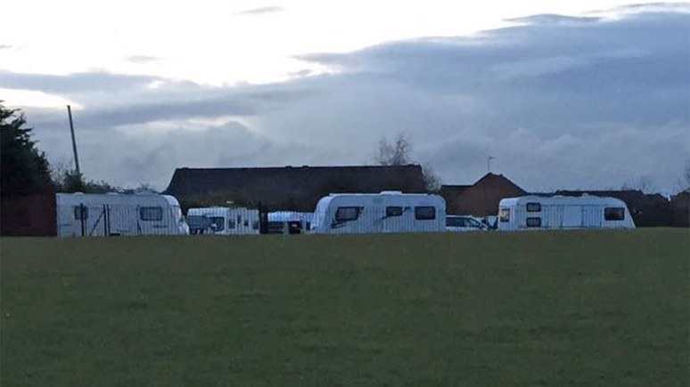 The unauthorised campers have left King George's Field in Lincoln