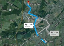 Cross Lane, North Hykeham to Lyneham Close, Birchwood