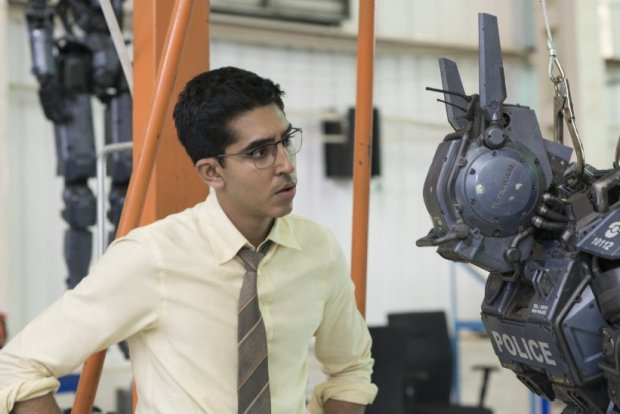 Sharlto Copley and Dev Patel in Chappie (2015) Photo: Columbia Pictures