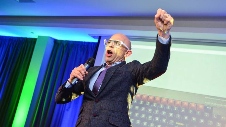 The Gadget Show Host Jason Bradbury congratulated the winners of the first Lincolnshire Digital Awards. Photo: Steve Smailes for Lincolnshire Business