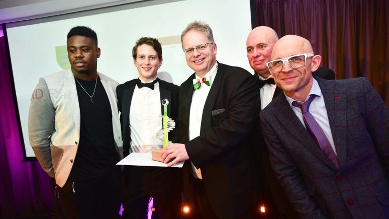 Winners of the Best Use of New Technology award Broadbandrating.com.  Photo: Steve Smailes for Lincolnshire Business