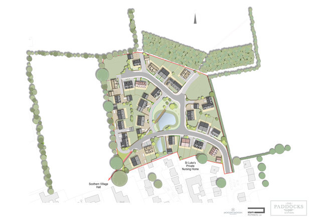 The designs for the new 35-home development. Image: Stem Architects