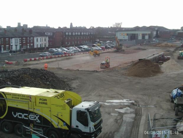 Progress in bringing an East West Link road to the city centre. Photo: LCC