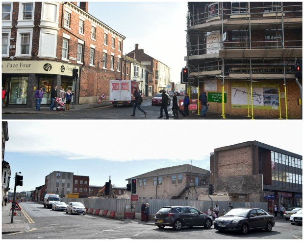 There's a notable change to the Lincoln High Street streetscape. Photos: Steve Smailes for The Lincolnite
