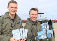 RAF Waddington staff with copies of The Drift