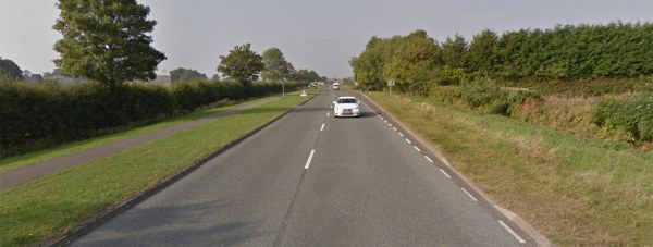 The five were arrested on the A158 near Lincoln. Photo: Google Street View