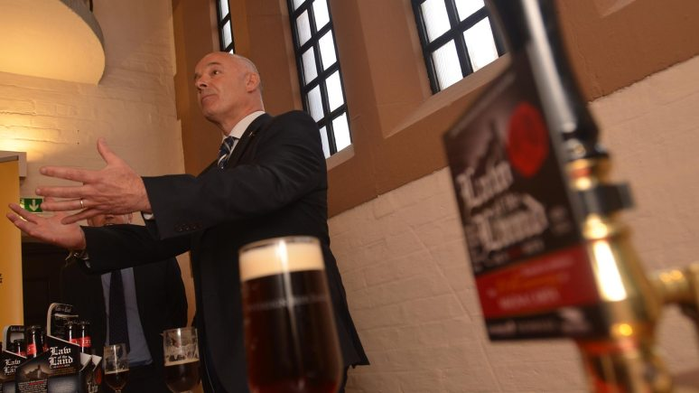 Stuart Bateman, Managing Director of Batemans Brewery giving his launch speech. Photo: Steve Smailes for the Lincolnite