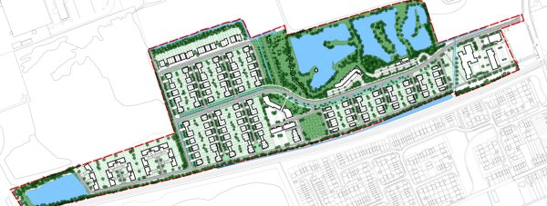 The proposed Leafbridge development off Station Road in North Hykeham.