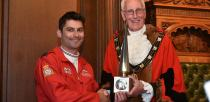 Squadron Leader David Montenegro received the award for the Red Arrows. Photo: Steve Smailes for The Lincolnite