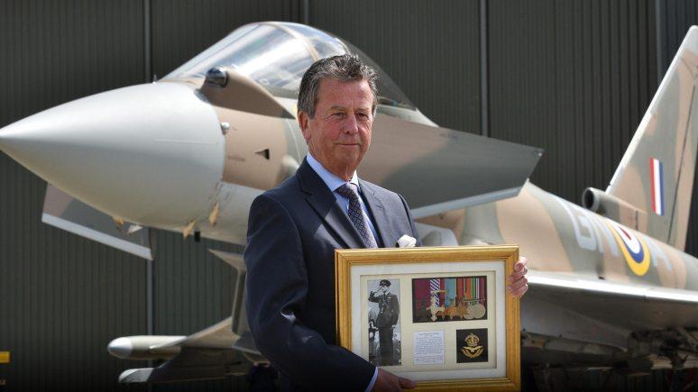 Jim Nicolson, cousin of Flight Lieutenant James Brindley Nicolson. Photo: Steve Smailes for The Lincolnite