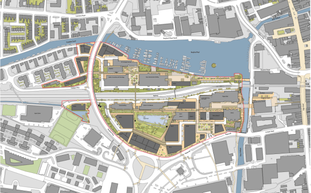 The previously approved University of Lincoln Masterplan.