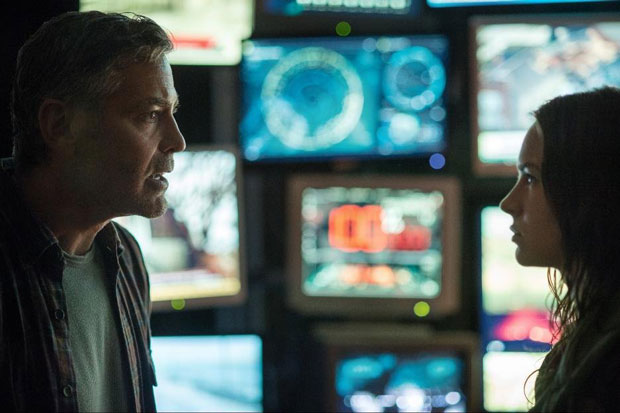 George Clooney and Britt Robertson in Tomorrowland (2015). Photo: Walt Disney Studios Motion Pictures