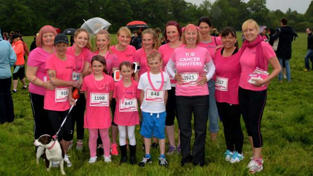 Carron's Cancer Fighters at the Race for Life event in Stamford on May 31