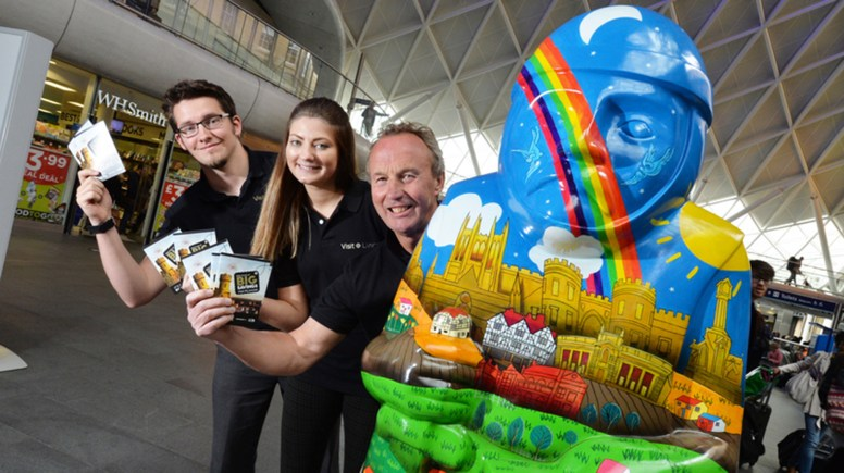 The team from Visit Lincoln with the Construction Baron, sponsored by Chestnut Homes.