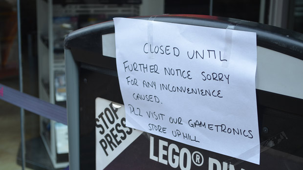 The Game store is closed until further notice. Photo: The Lincolnite