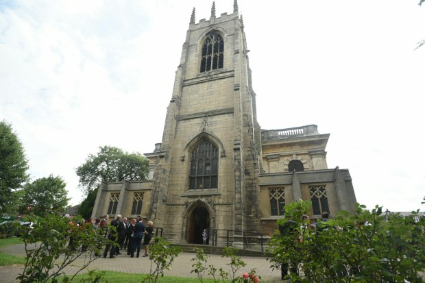 Hundreds gathered at the church to pay their final farewell to Carly. Photo: Steve Smailes for The Lincolnite